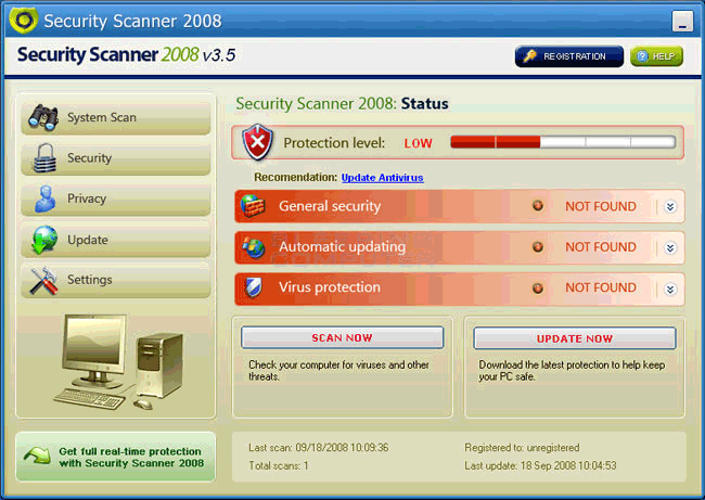 Security Scanner 2008 -
