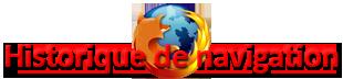 Firefox : Historique de navigation