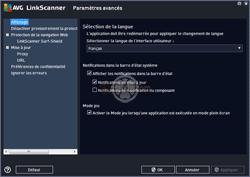 AVG LinkScanner - Paramétrage du comportement de l'outil (en version gratuite) - 13