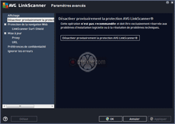 AVG LinkScanner - Paramétrage du comportement de l'outil (en version gratuite) - 14