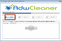 AdwCleaner - Progression d'une analyse