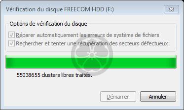 verifier le disque dur