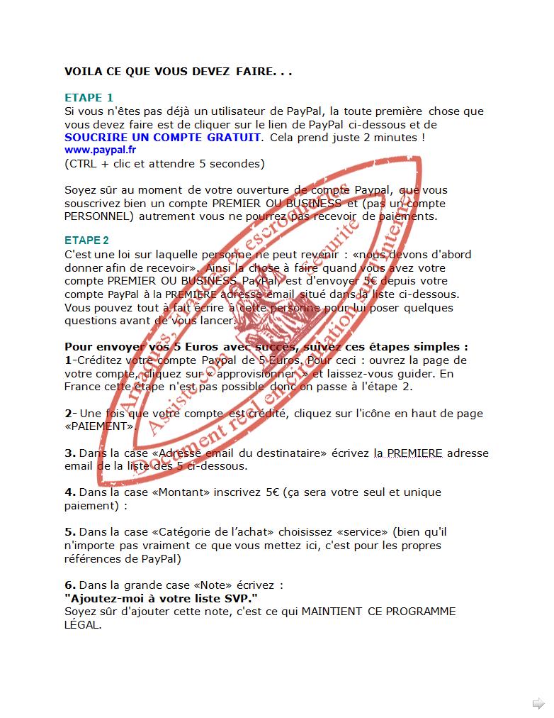 escroquerie texte de loi