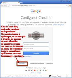 Configurer Google Chrome