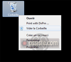 Vider la Corbeille de Windows