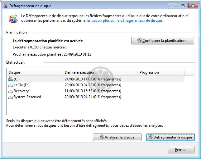 Defragmentation Automatique Des Fichiers D Un Disque Sous Windows