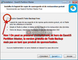 Installation d'EaseUS Partition Master
