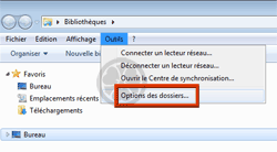 "Explorateur Windows : ""Options des dossiers"" s'affiche"