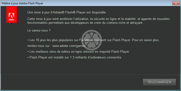 comment mettre a jour adobe flash player