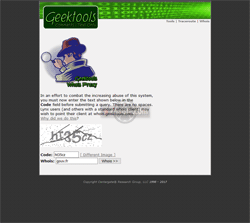 Geektools (geektools.com) Whois - Domain name search - recherches Whois