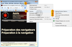 Atteindre le paramétrage des options de Ghostery - 1