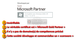 Faux (fake) certificat « Microsoft Gold Partner »