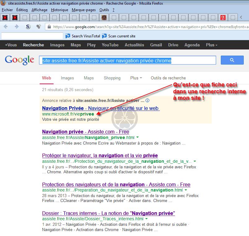 0c87aeaa646e Liens sponsorisés - Google Search avec opérateur site  et publicité adsense