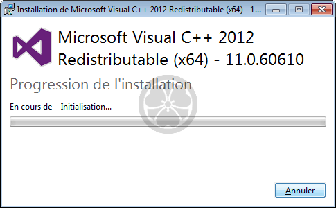 Microsoft Visual C++ redistribuable pour Visual Studio 2012