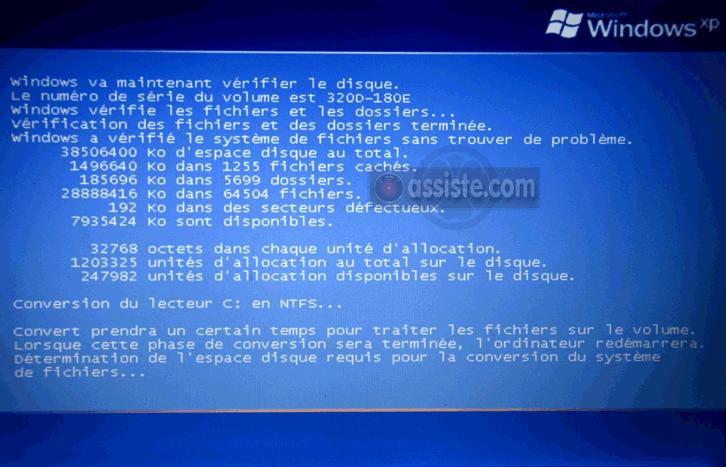 Passer de FAT a NTFS