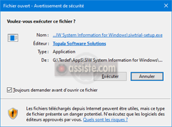 SIW (System Information for Windows) - installation