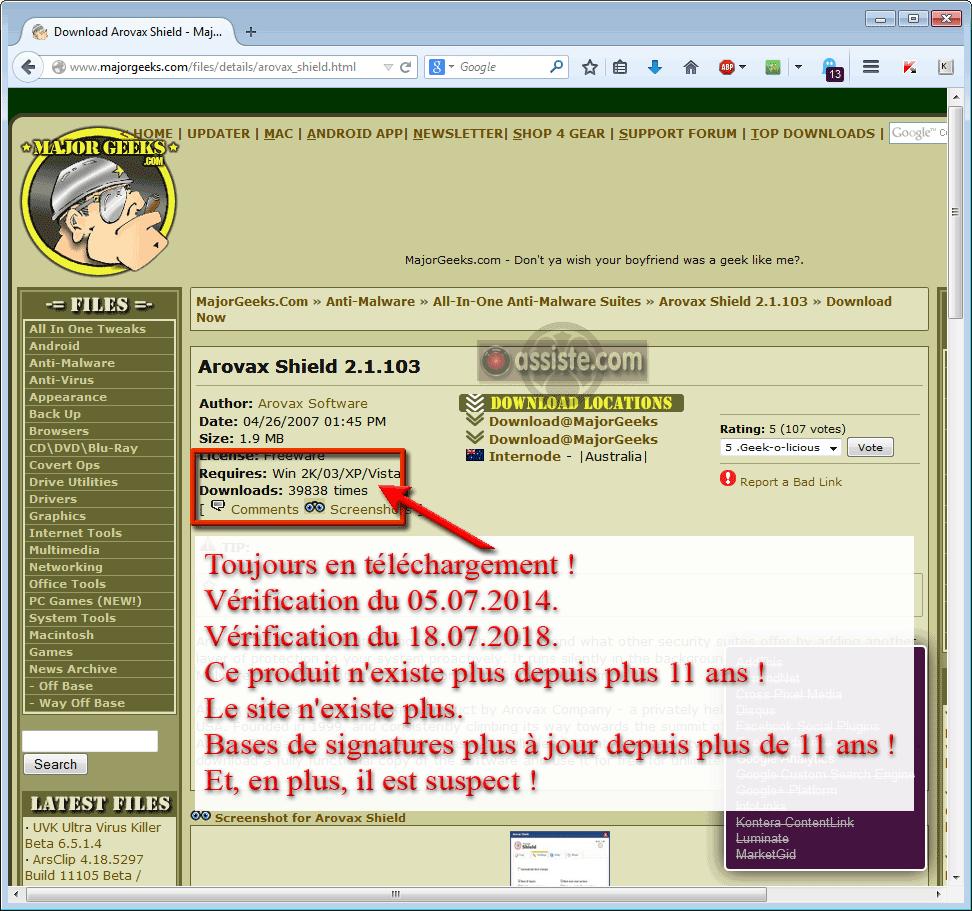 SPYWARE ANTI TÉLÉCHARGER GRATUIT AROVAX