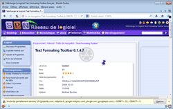 Text Formating Toolbar 0.1.4.7 à partir du site Text Formating Toolbar 0.1.4.7 à partir du site Softpicks.fr