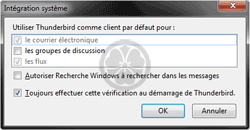 Comment intégrer Thunderbird à Windows