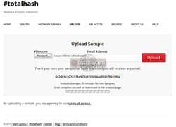 TotalHash - Upload d'un fichier