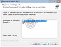 Installation de Unlocker dans le menu contextuel de l'Explorateur Windows