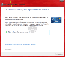 Problème d'authentiication de Windows