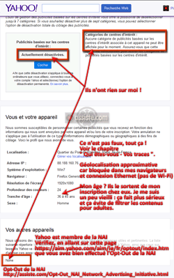 Opt-Out de la NAI - Vérification - Yahoo!