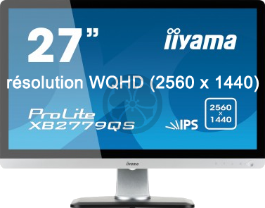 Moniteur iiyama prolite xb2779qs 27 r solution wqhd for Ecran photo 27 pouces
