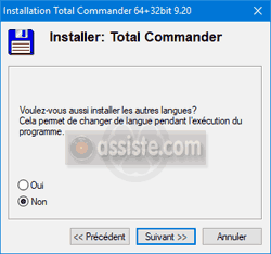 Installation de Total Commander