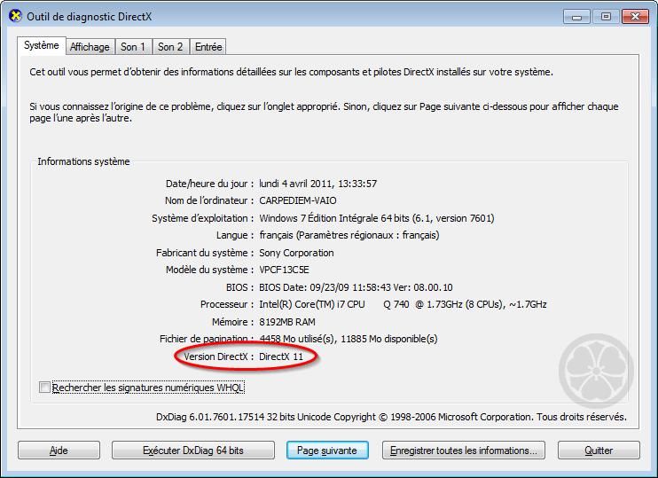 directx 9.0b gratuitement
